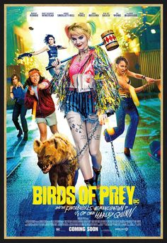 Rosie Perez, Jurnee Smollett-Bell, Mary Elizabeth Winstead, Margot Robbie, and Ella Jay Basco in Birds of Prey: And the Fantabulous Emancipation of One Harley Quinn Films Récents, Films Netflix, 2020 Movies, New Movies, Movies To Watch, Movies Online, Funny Movies, Good Movies, Joker Y Harley Quinn