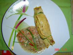 Rezept: Gefüllte Pfannkuchen mit Champignonrahmsauce