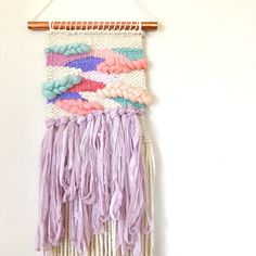 Weaving Wall Hanging Woven Tapestry Woven Wall Hanging Yarn by SarahHarste