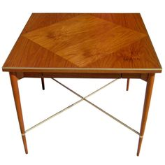 Walnut Game Table by Paul McCobb | From a unique collection of antique and modern game tables at http://www.1stdibs.com/furniture/tables/game-tables/