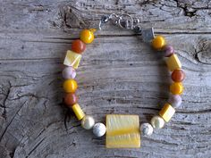 Mother of pearlmagnesite grainstoneglass by windinhishare on Etsy, $5.60