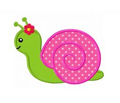 Items similar to Girl Snail Applique Machine Embroidery Design on Etsy Baby Applique, Machine Embroidery Applique, Applique Patterns, Quilt Patterns, Applique Designs Free, Ribbon Embroidery, Embroidery Stitches, Motifs D'appliques, Machine Quilting Designs