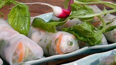 Färska vårrullar med sötstark dipsås