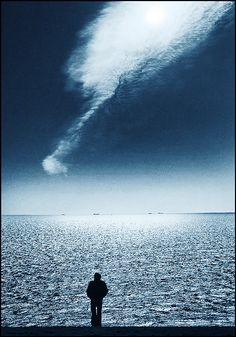 ✯ Gods Finger! .. by Adrians Art✯   Gods Finger!          71  107                           . Newer Older     This is a view from the cliff top at the seven sisters on the Sussex coast in England, the person is a friend of mine , what drew me to this was that cloud acting like a finger from God!
