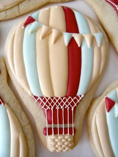 Hot air ballon cookies!