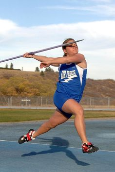 Track And Field, Javelin, Woman, Female, Throw