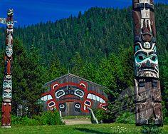 Tlingit Culture Longhouse  Totem  Saxman Totem Village  Ketchikan  Alaska
