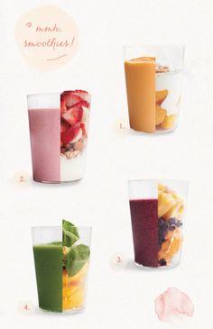 Easy-to-make smoothies. YUM!
