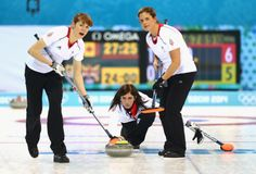 Eve Muirhead of Great Britain in action during the Curling Round Robin match between Canada and Great Britain (c) Getty Images