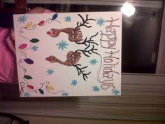 Cohen's Reindeer Foot Print Canvas @Robin Garner Hovey