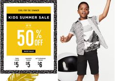 Cool for the Summer Kids Summer Sale Up to 50% OFF