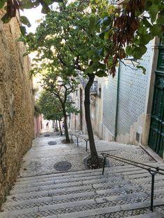 Lisbon Portugal Alfama Stairs