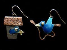 chickenscratch jewelry | Bluebird Earrings by Chickenscratch