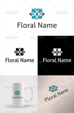 Floral Logo — Vector EPS #logo #flower • Available here → https://graphicriver.net/item/floral-logo/2580710?ref=pxcr