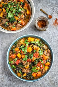 Healthy and delicious lamb, lentil and squash stew | Supergolden Bakes