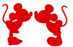 Mickey and Minnie Mouse Silhouette SVG