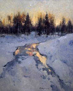 25 Ideas For Art Painting Landscape Nature Palette Knife Winter Landscape, Urban Landscape, Abstract Landscape, Landscape Paintings, Painting Snow, Winter Painting, Winter Art, Landscape Art Lessons, Landscape Sketch