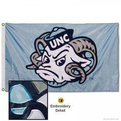 77a26f08de UNC Tar Heels Ramses Head Appliqued Nylon Flag measures 3x5 feet