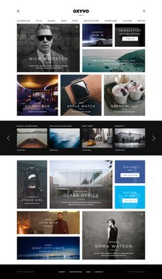 On the lookout for some fresh web design inspiration? Here's a new collection of web designs that we've come across over the last couple of… Grid Web Design, Web Design Examples, Best Web Design, App Design, Layout Design, Flat Design, Web Layout, Design Ideas, Graphic Design