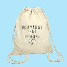 Justin Bieber is my boyfriend Drawstring Bag