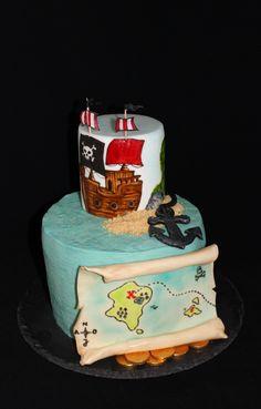 Piratenschiff Geburtstagstorte ~*~ Pirateship Birthday Cake Handicraft, About Me Blog, Cake, Desserts, Food, Birthday Cake Toppers, Pies, Craft, Tailgate Desserts