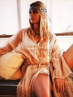 A sun-kissed Brigitte Bardot exuding bohemian chic, via comespywithme