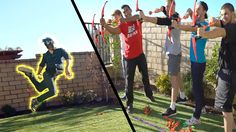 5 vs 1 - COMPLETELY UNFAIR!! | Arrow Dodge Challenge #2. This makes me want to go play outside again...