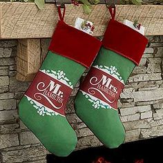 The Happy Couple Personalized Christmas Stocking