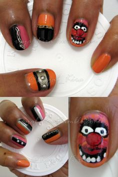 Week four of the Nail Art Challenge: Animal I... - The Book of Madness