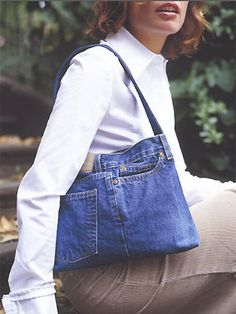 Old Jean Purse Patterns | Turn old jeans into a bag: free sewing pattern