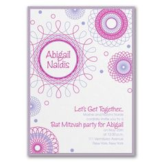 40% OFF  |  Spiral Spectacular - Invitation with Backer  http://mediaplus.carlsoncraft.com/Parties--Celebrations/Bar--Bat-Mitzvah-Invitations/3125-BAN40093-Spiral-Spectacular--Invitation-with-Backer.pro