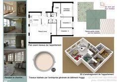 Plan d'un appartement de 5 pièces.
