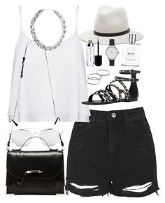 """""""Outfit for a summer date"""" by ferned ❤ liked on Polyvore featuring Apt. 9, Topshop, Alice + Olivia, Wallis, Yves Saint Laurent, Mackage, rag & bone, philosophy and Olivia Burton"""