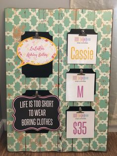 Perfect for displaying style, size, and price tags! #lularoebusiness #display…