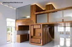 Imagen del interior de un apartamento antiguo de techos altos