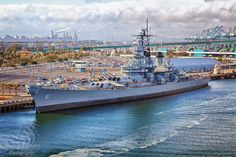 Port of Los Angeles USS Iawa.jpg   Ian C Whitworth Photography
