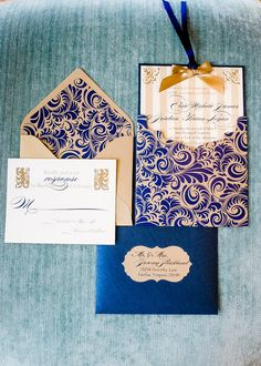 Wedding Invitation Luxe French  SAMPLE by Staccato on Etsy