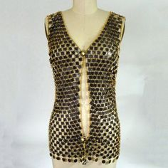 Deco Inspired Chain and Pailette Vest by NobleSavageVintage, $90.00