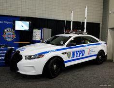New York, NYPD Ford Interceptor Sedan vehicle.