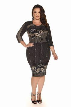 Curvy Inverno 2017 - Fascinius Moda Evangélica Curvy Plus Size, Plus Size Girls, Plus Size Women, Plus Size Dresses, Plus Size Outfits, Curvy Girl Fashion, Womens Fashion, Plus Size Summer Outfit, New Years Eve Outfits