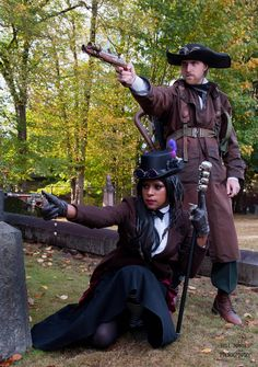 Steampunk Photoshoot-take at train yard and in forest, maybe make 2 outfits that can be interchanged. Steampunk Men, Steampunk Cosplay, Steampunk Design, Steampunk Wedding, Steampunk Fashion, Steampunk Images, Diesel Punk, Cyberpunk, Alice In Wonderland Steampunk