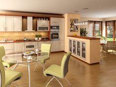 Orion moderní světlá kuchyň v imitaci javoru / modern kitchen Table, Furniture, Home Decor, Decoration Home, Room Decor, Tables, Home Furnishings, Home Interior Design, Desk