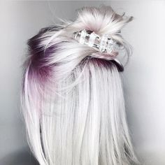 Pretty plum roots with silvery blonde~ Instagram photo by @mykitsch •