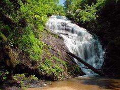 King Creek Falls, South Carolina  (off Highway 107 near the SC/NC border);  photo by Rich Stevenson