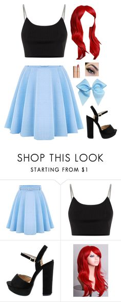 """""""Modern Ariel"""" by clyx ❤ liked on Polyvore featuring WithChic, Alexander Wang, Charlotte Tilbury, modern, disney, ariel and Disneyprincess"""