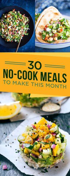 30 Cool And Easy Dinners To Make Every Night In June recepten gezonde gemakkelijke diner Vegetarian Cooking, Healthy Cooking, Vegetarian Recipes, Cooking Recipes, Healthy Recipes, Cooking Zucchini, Cooking Games, Cooking Classes, Easy To Make Dinners