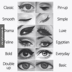 12 different eyeliner
