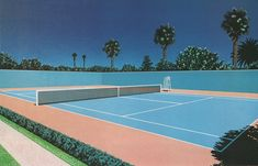 Inspired by Magritte and Dali, and the American pop art culture Magritte, Tennis Camp, Surreal Collage, Vaporwave Art, Retro Waves, David Hockney, Poster Prints, Art Prints, Skate Park