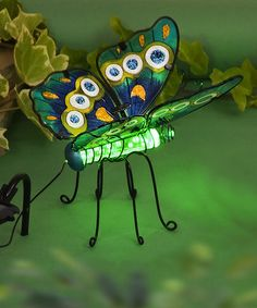 Another great find on #zulily! Green LED Color-Changing Butterfly Garden Décor #zulilyfinds