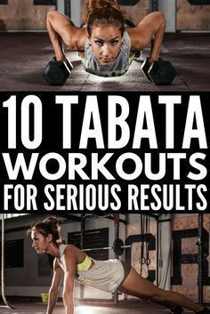 Tabata workouts consist of 4 minutes of high intensity, fat-burning cardio exercises that will give you serious results. With 20 seconds of intense exercise followed by 10 seconds of rest, repeated 8 times, it's a great way to get a full body workout, and